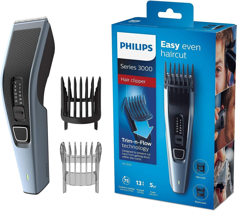 Philips hc3530/15Cortapelos Series 3000con cuchillas de acero inoxidable (13longitudes, elegir la accesorio)