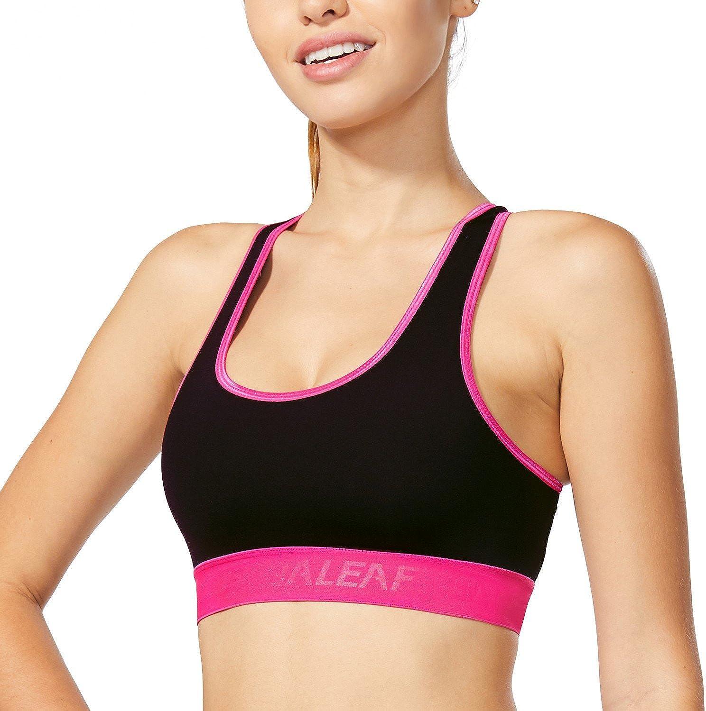 BALEAF Womens Compression Sports Bra Workout Fitness Gym Activewear Bras