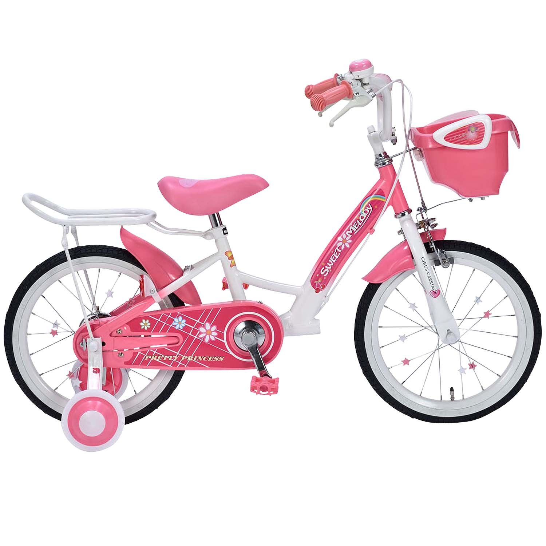 My Pallas(マイパラス) 子供用自転車16インチ補助輪付サポートキャリア付 MD-12 B077M4R4X4ピンク