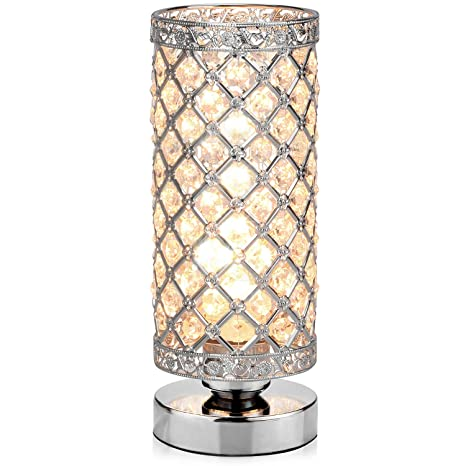 Amazon.com: Lámpara de mesa, Petronius Crystal Lámpara de ...