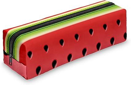 Estuche estuche Escuela lápices estuche Sandía Watermelon carpeta School Fullprint: Amazon.es: Oficina y papelería