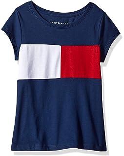 7435aa23ecd9 Tommy Hilfiger Girls  Core Crew Neck Tee Shirt