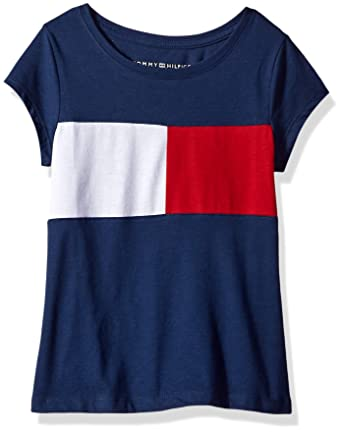 2ea68d1e1 Amazon.com  Tommy Hilfiger Girls  Core Crew Neck Tee Shirt  Clothing