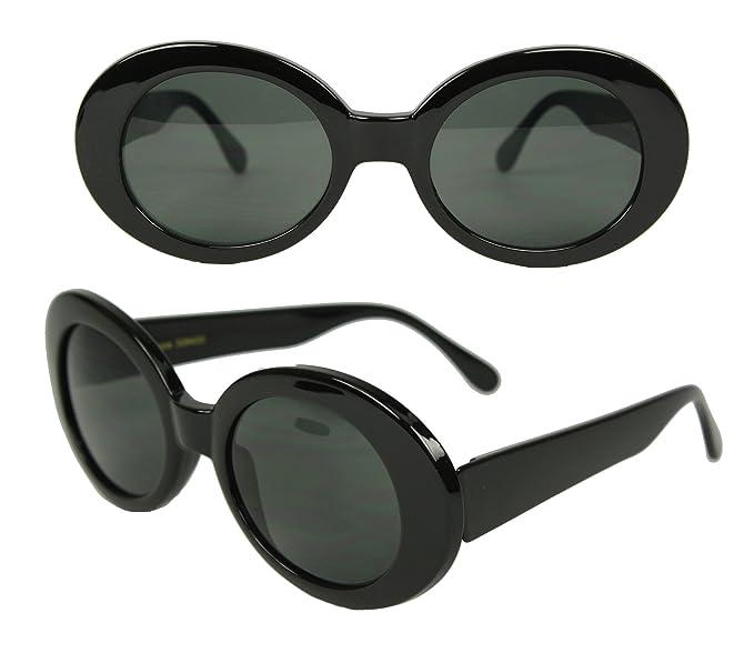 b9706b2b6d6 Amazon.com  MOD Oval Costume Sunglasses (Black)  Clothing