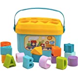 Playkidz Shape Sorter Baby and Toddler Toy, ABC and Shape Pieces, Sorting Shape Game, Developmental Toy for Children 18 Month