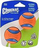 "Chuckit! Ultra Ball, Small, 2"", 2 Pack, Orange/Blue"
