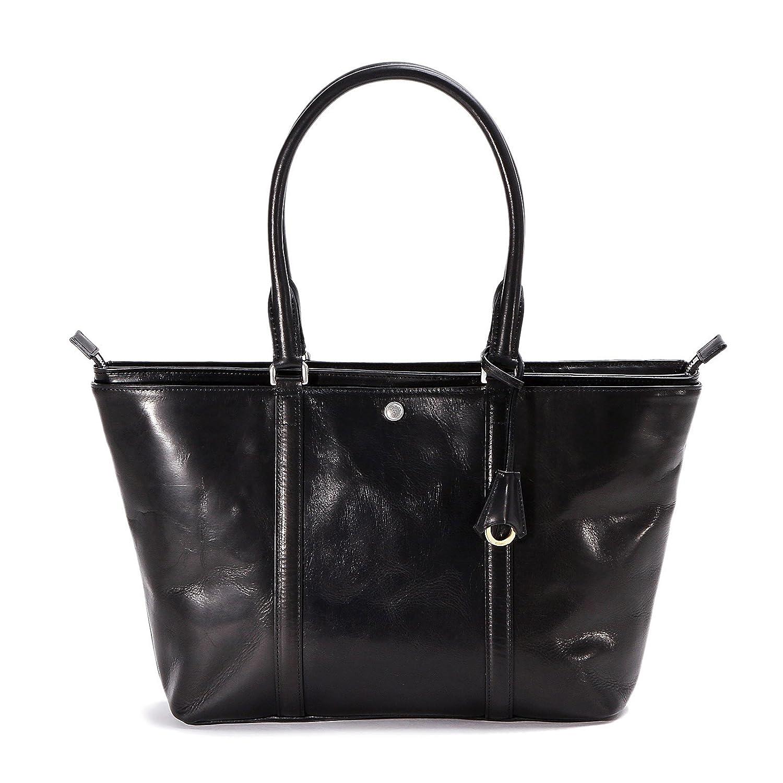 アニアリ トートバッグ New Ideal Leather 11-02002 B01N5UOIQV ブラック ブラック