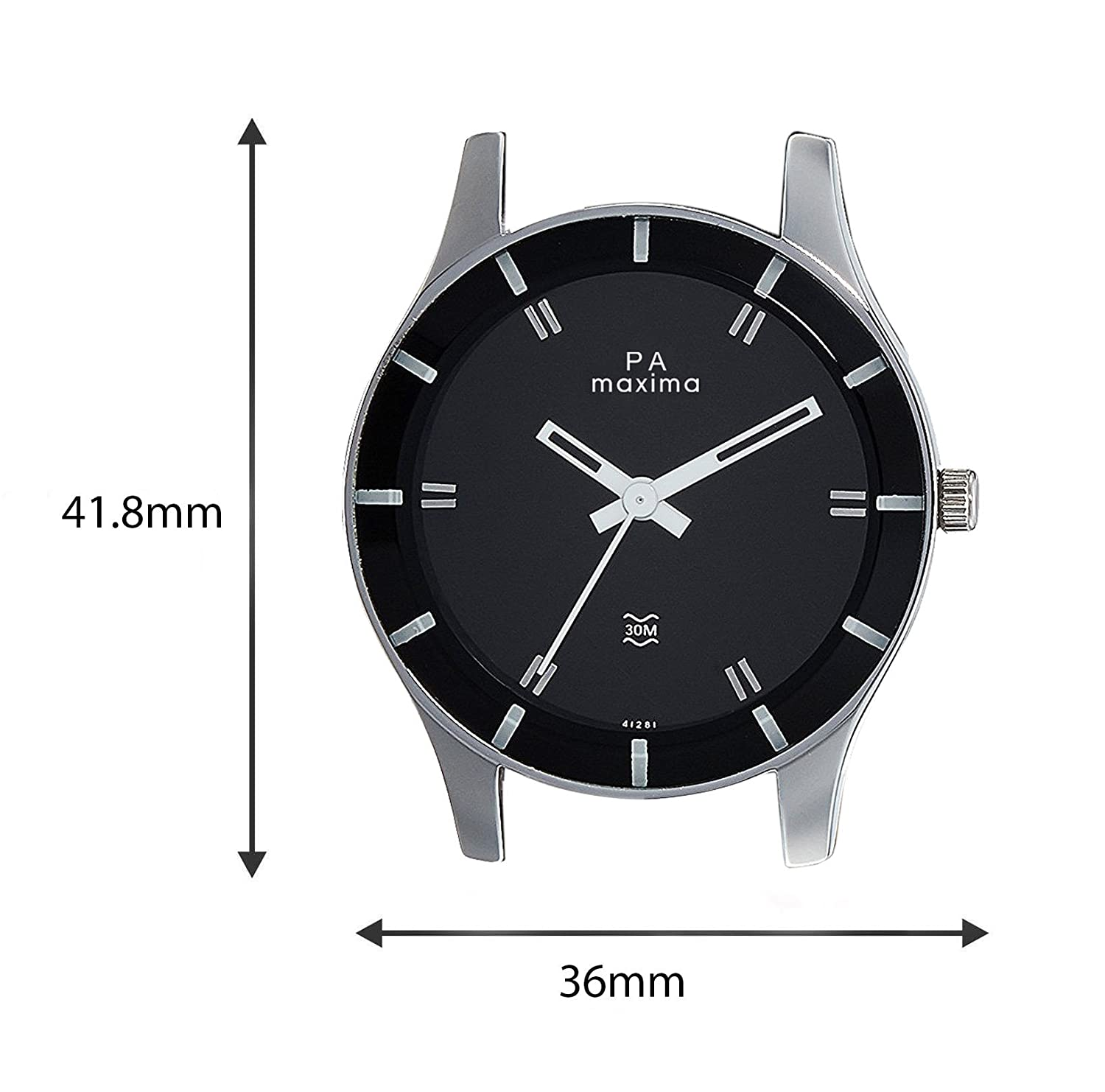 hand designer attivo prices stainless black men maxima details steel date wrist online mens for formal watches india
