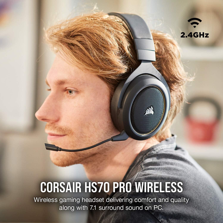 Corsair HS70 Pro Wireless Gaming Headset Renewed Cream