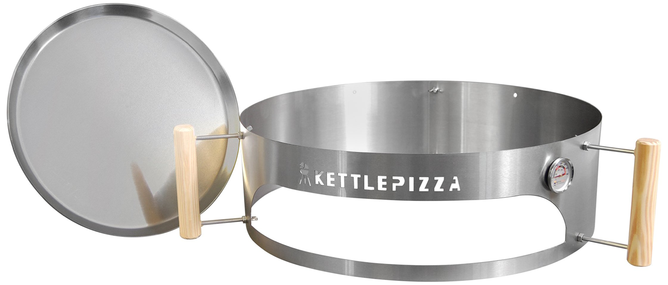 Made in USA KettlePizza Basic Pizza Oven Kit for 18.5 and 22.5 Inch Kettle Grills, KPB-22 by Kettle Pizza (Image #1)