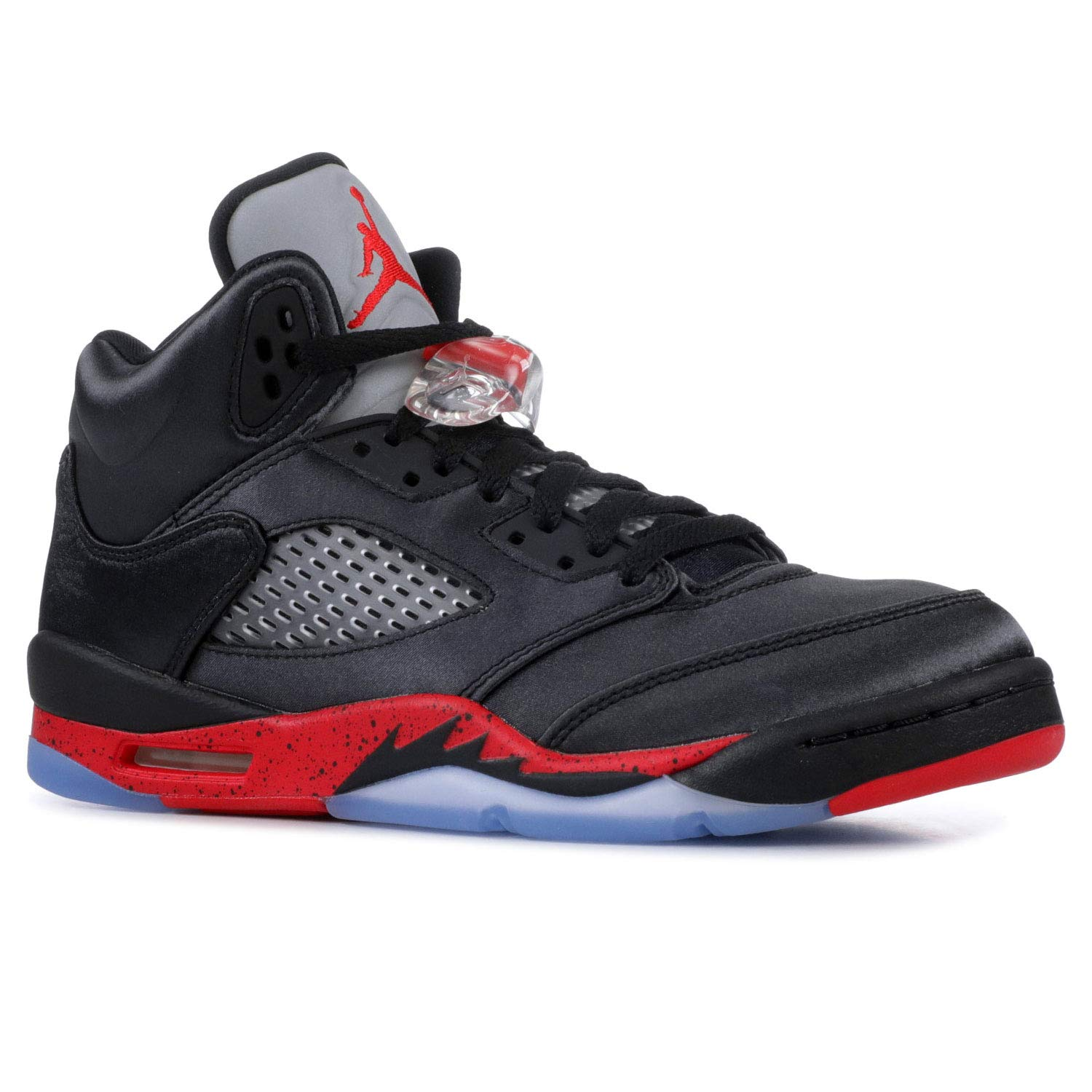 0dd9c327563a Amazon.com | Nike Air Jordan 5 Retro Grade School Satin Black/University Red  440888-006 (Size: 3.5Y) | Fashion Sneakers
