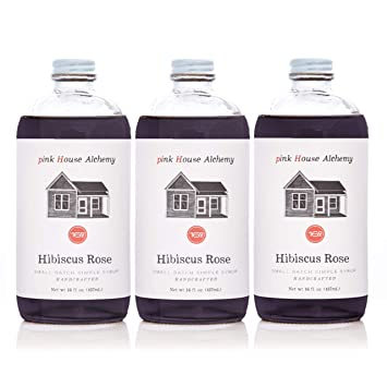Amazoncom Pink House Alchemy Hibiscus Rose Simple Syrup 3 16