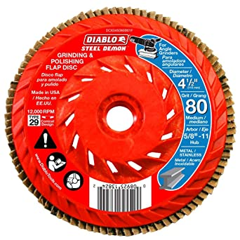 Amazon.com: Diablo Flap DISC Integrated HUB 80G: Industrial ...