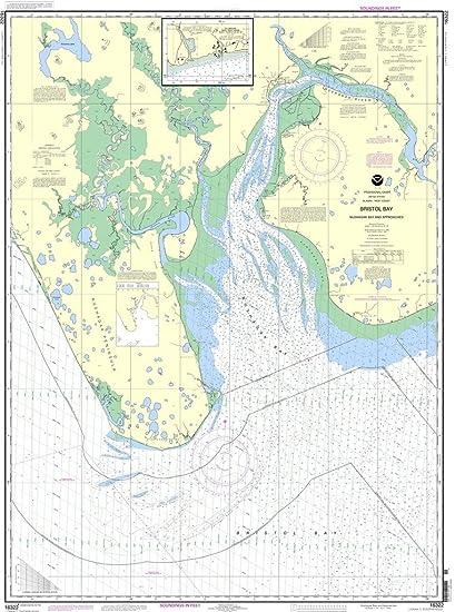 Amazon.com: NOAA Gráfico 16322: Bristol bay-nushagak B y ...