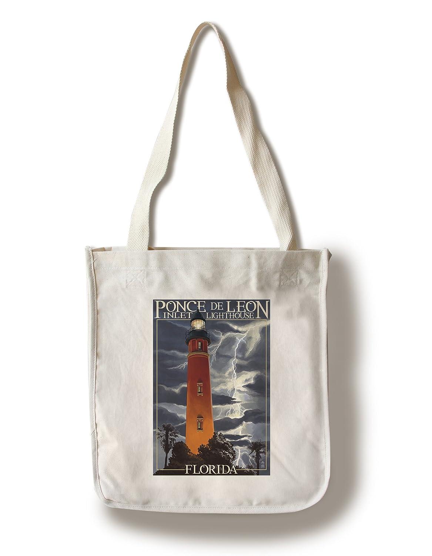 最も  Ponce de Leon Bag Inlet灯台、フロリダ州 – Lightning Leon at Night Bag Canvas Tote Bag LANT-37007-TT B01881AD9U Canvas Tote Bag, 信濃町:b96687da --- catconnects-ie.access.secure-ssl-servers.org