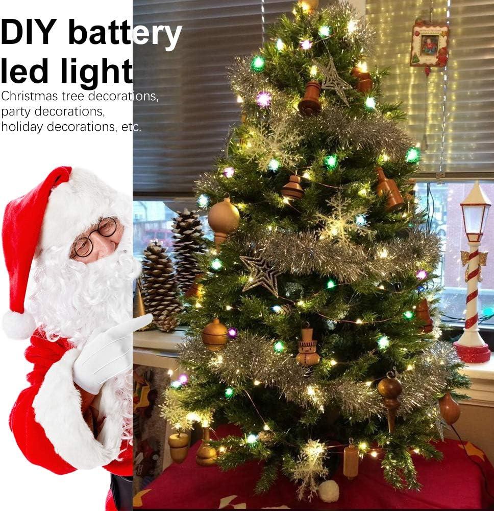 Cadena de Luces LED 8 Modos Bodas Luces LED Pilas 10M 100LED Pared Fiesta 2 Pack Hogar Guirnalda Luces Pilas Impermeable IP67 Decoraci/ón Guirnalda Luces Luces de Cadena Micro para Navidad