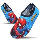 Joah Store Spiderman Boys Water Shoes Anti-Slip