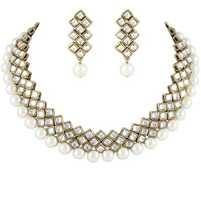 81198db3ff1d8 Shining Diva Latest Kundan Choker Traditional Necklace Jewellery Set for  Women