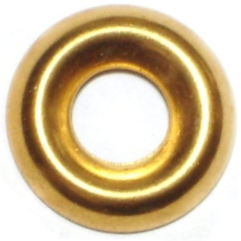 Hard to Find Fastener 2 Finishing Washer Brass 10 Piece 125