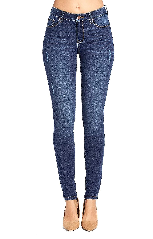 Jp1064_medium Wash bluee Age Women's ButtLifting Skinny Jeans