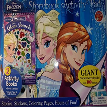 disney frozen story book activity pad great for birthday or christmas gift includes giant sticker