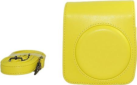 Retro de la cámara de la PU Estuche de Cuero para Fujifilm Instax Mini 70 + Correa para el Hombro Amarillo: Amazon.es: Hogar