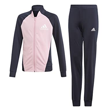 a606248ab adidas Girls Full Zip Polyester Tracksuit Set Pink/Navy - 4-5 Years