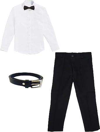 black & white KOM Plus - Camisa para niños con Pajarita ...