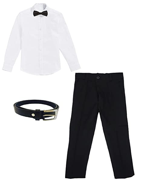 white shirt and black pant with tie