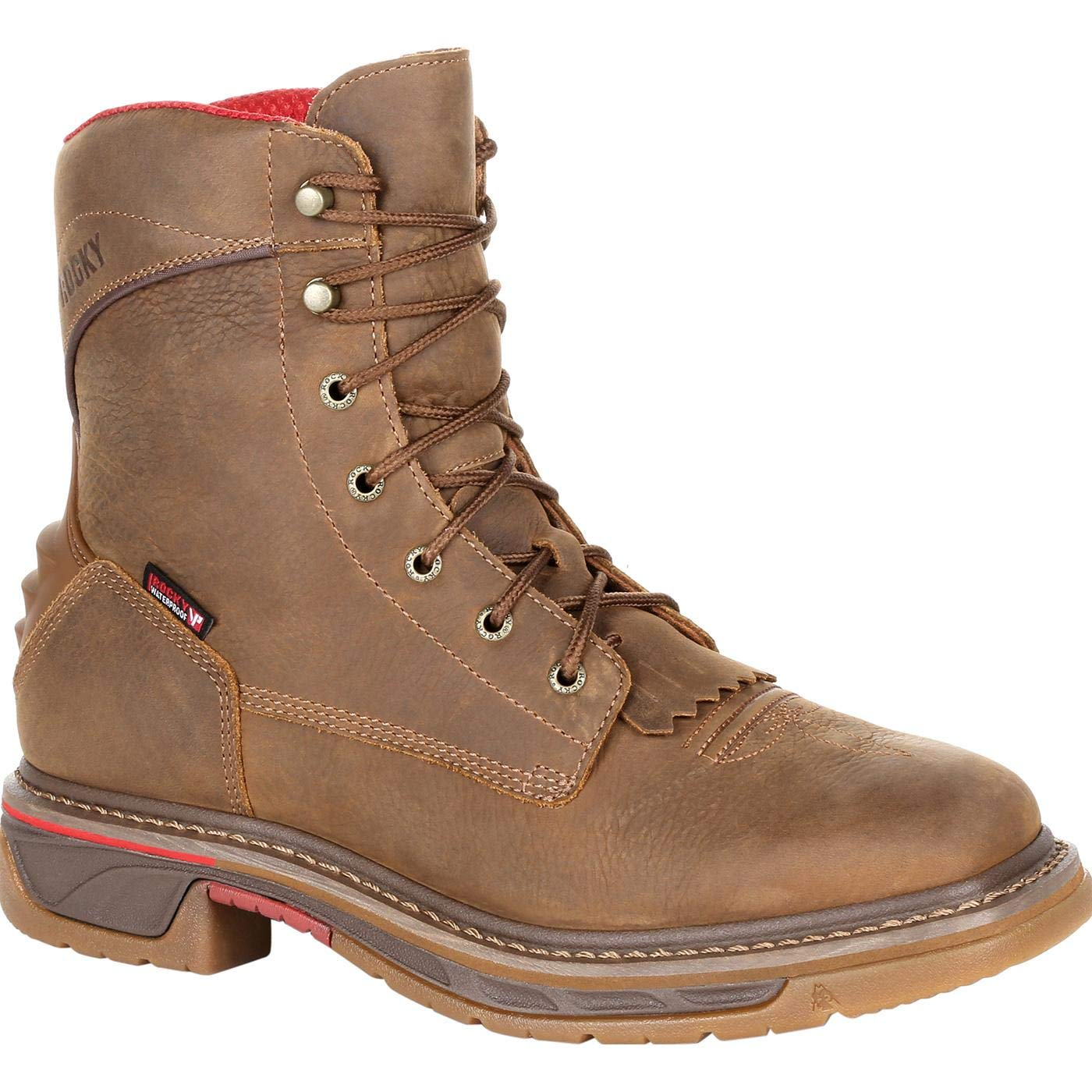 ROCKY Iron Skull Waterproof Lacer Western Boot Brown by ROCKY