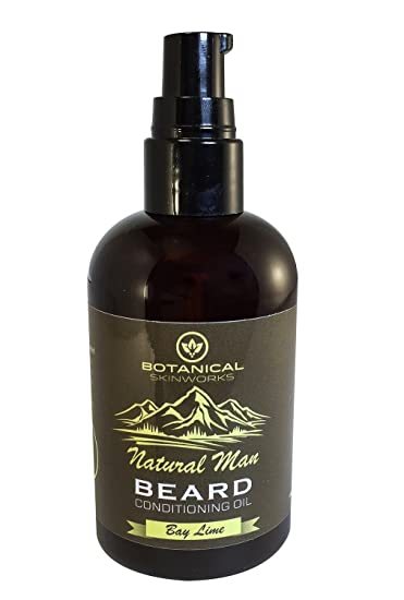 Botanical Skin Works Natural Man Bay Lime Beard Oil, All Natural Beard  Conditioner, 4 oz