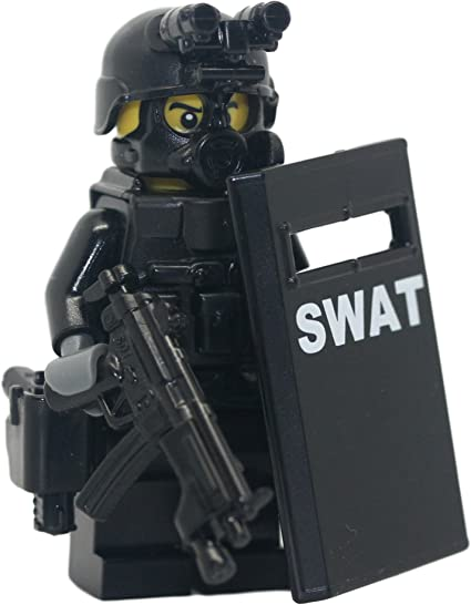 "2 x TOY S.W.A.T POLICE MACHINE GUNS 17/"" WITH SOUNDS."