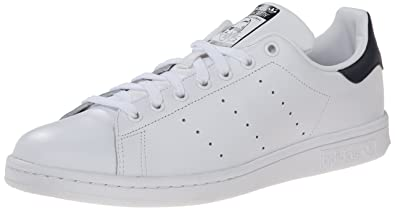 Adidas Men's Originals Stan Smith Sneaker, White/White/Dark Blue, ...