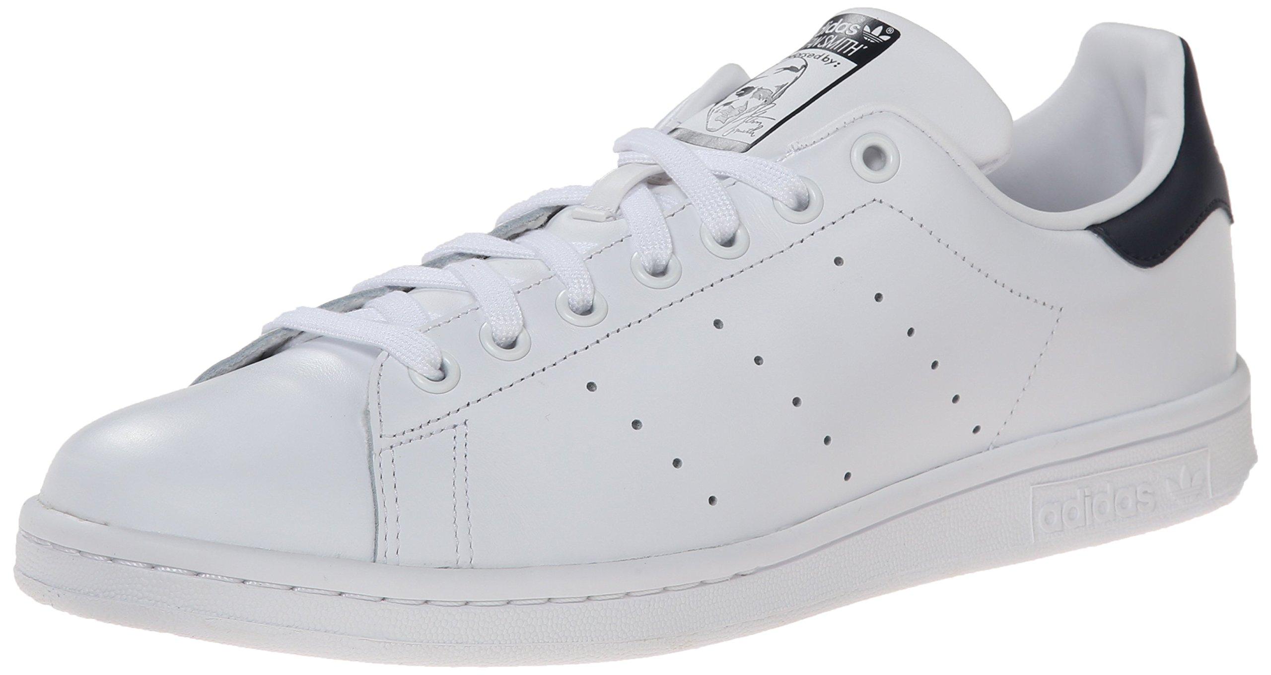 Adidas Men's Originals Stan Smith Sneaker, White/White/Dark Blue, 12 M US