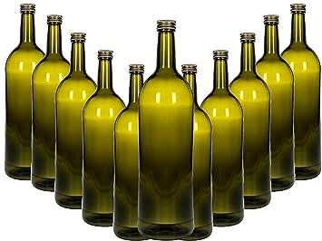 Glasflaschen Set Mit Schraubverschluss Gold 6 Teilig Füllmenge 1