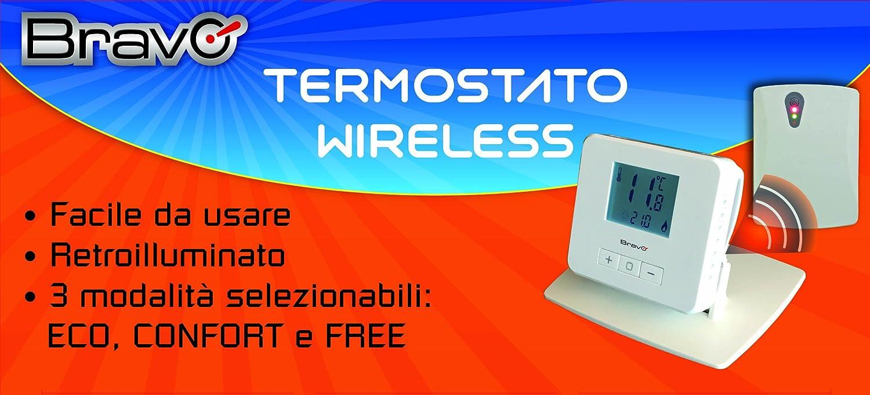 Termostato digital inalámbrico Bravo 93003103: Amazon.es: Bricolaje y herramientas