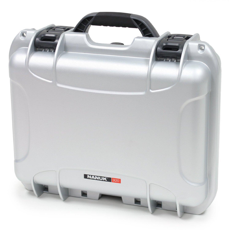 Nanuk 920 Case with Padded Divider (Silver) [並行輸入品] B019SZ8HM0