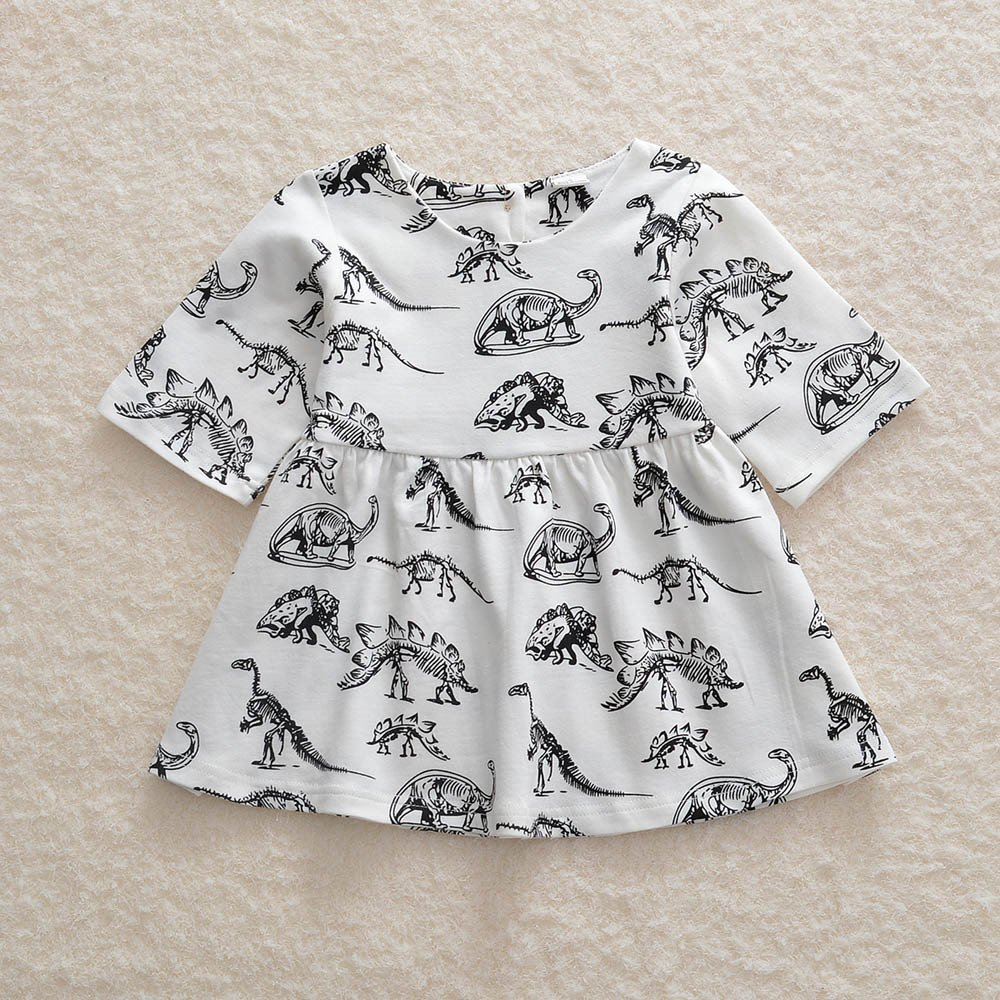 e669b9ae2de0 Amazon.com  Tanhangguan Baby Girls Dresses Cute Cartoon Dinosaur ...