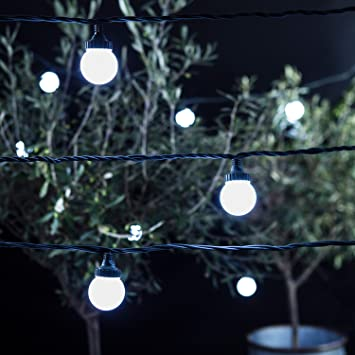 40 cool white led outdoor connectable festoon party lights pro 40 cool white led outdoor connectable festoon party lights pro series on green cable by lights4fun aloadofball Choice Image