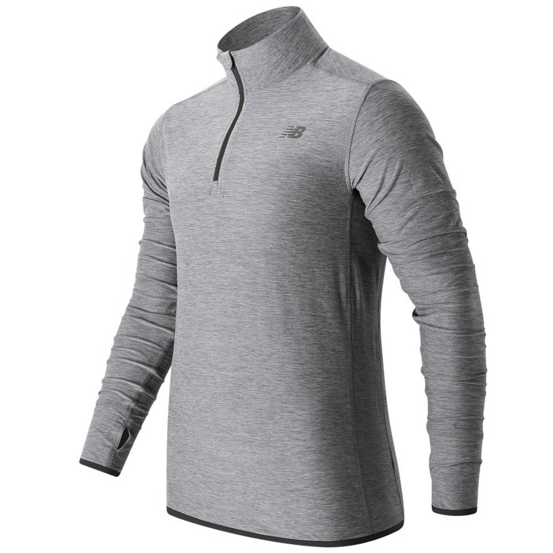 New Balance Men's Space Dye Quarter Zip Jacket, Athletic Grey, XX-Large