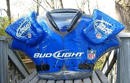 amazon com bud light beer nfl shoulder pad and under armor gear 34