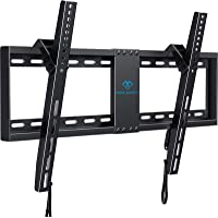 """PERLESMITH Tilt Low Profile TV Wall Mount Bracket for 32-82 Inch LED LCD OLED Flat Screen TVs - Fits 16""""- 24"""" Wood Studs…"""