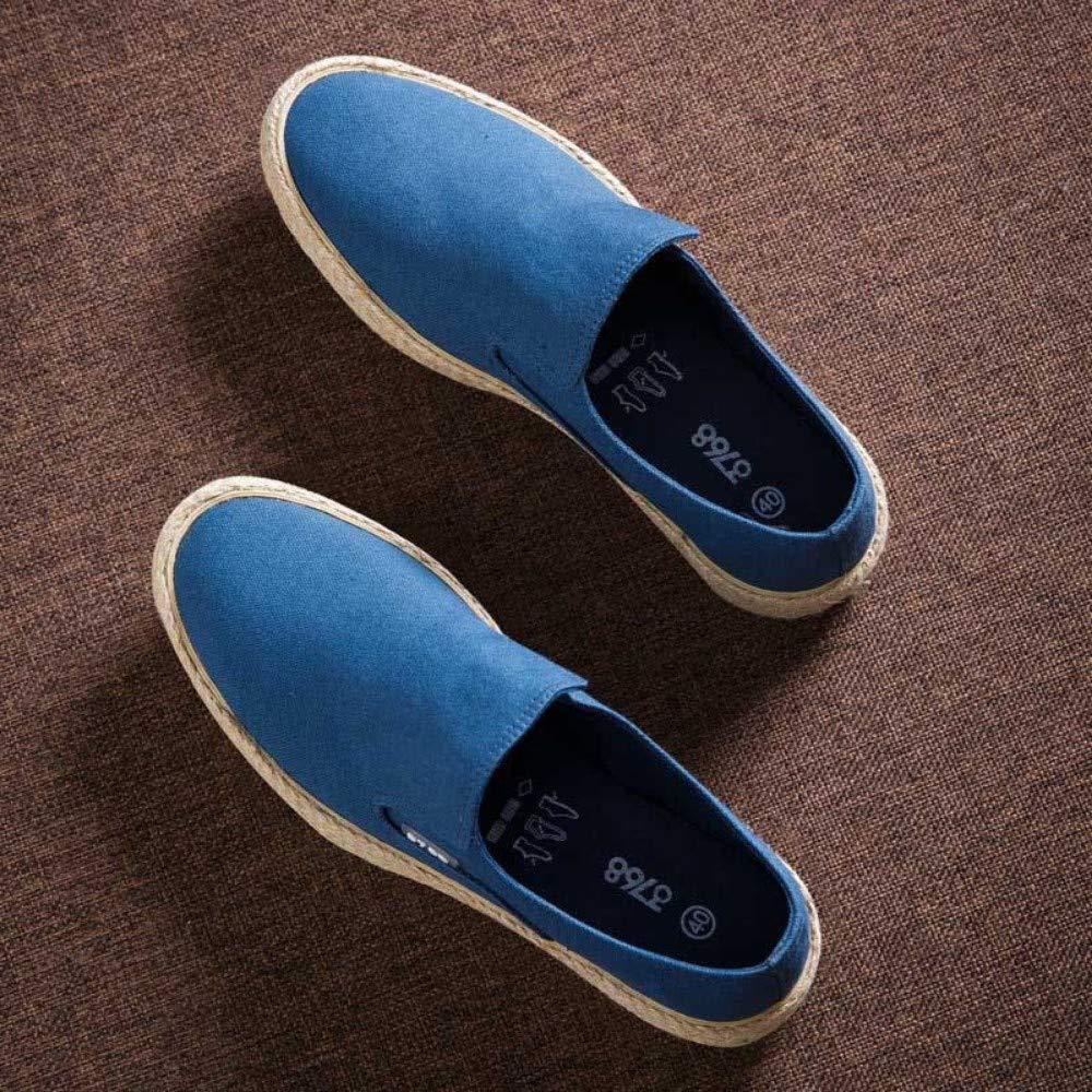 YOPAIYA Mens Zapatos Casual Masculino Tela Transpirable Zapatos de Primavera Moda Hombre Suave resbalón en Alpargatas de cáñamo para Hombres: Amazon.es: ...