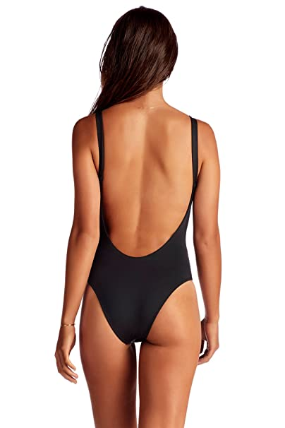 040ff290247b1 Vitamin A Women's Leah Low Back Over The Shoulder One Piece Swimsuit  Swimsuit at Amazon Women's Clothing store: