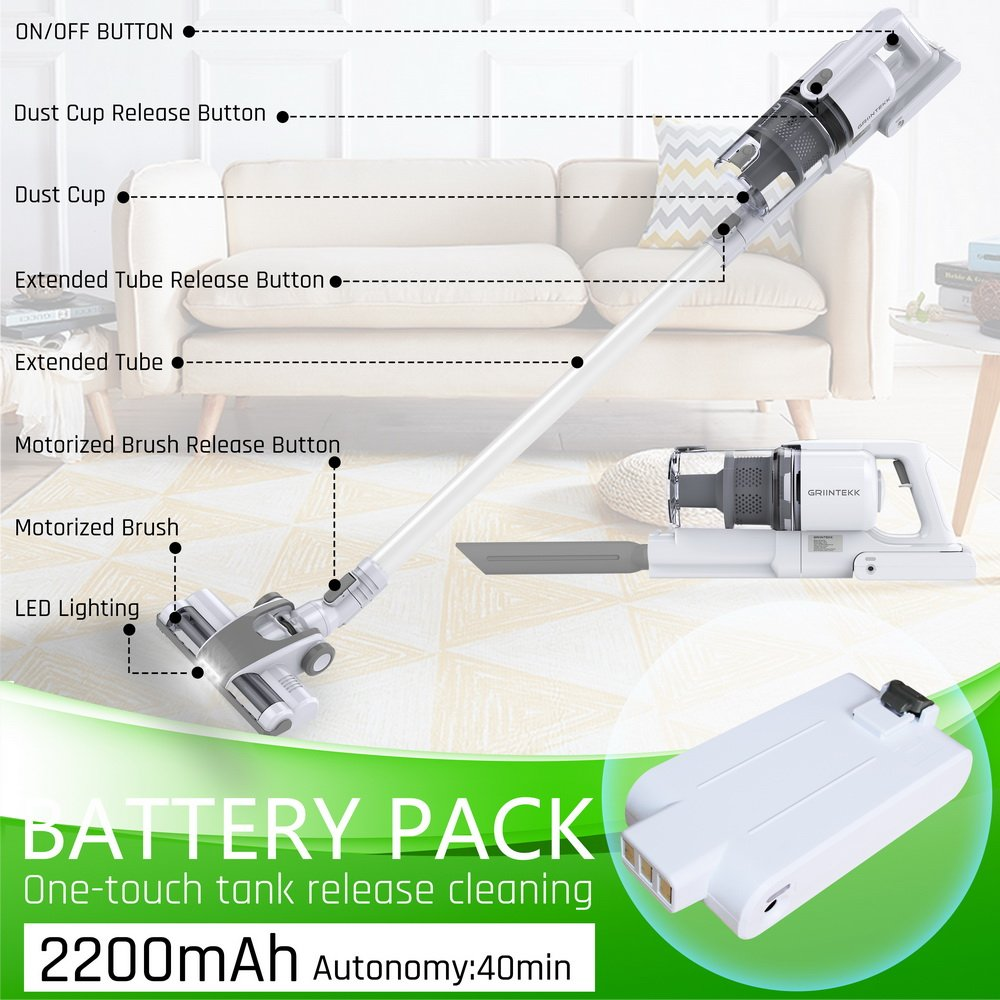 Handheld Upright Vacuum Cleaner Cordless Stick Vacuum Cleaner 3 in 1 Light Weight Electric Brooms