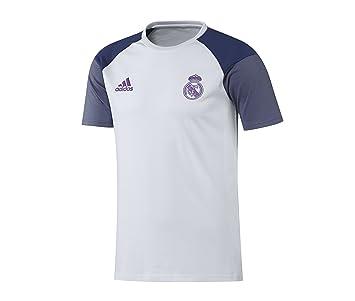Adidas Real Madrid CF Y Camiseta, Niños, Blanco/Morado, 13-14