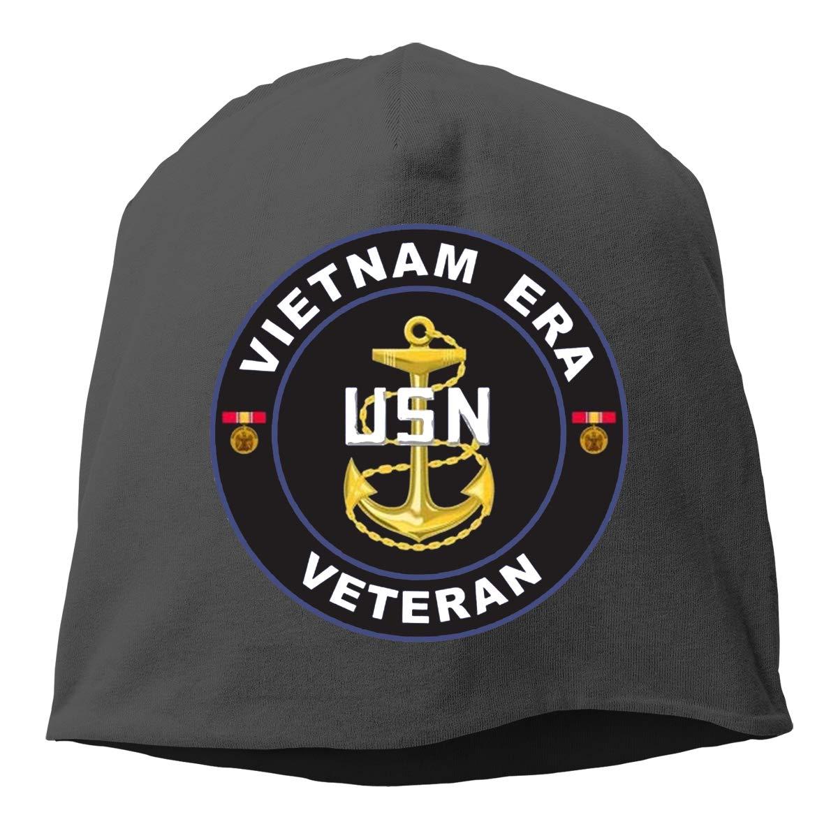 United States Navy Vietnam Era Veteran Hedging Hat Unisex Skull Hat Knitted Hat Beanie Cap for Autumn//Winter Cap