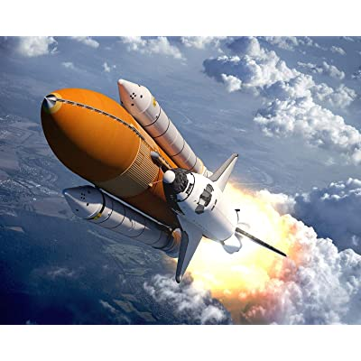 gongyu12 Space Shuttle Oil Painting, Self-Made Digital Oil Painting Living Room Landscape Anime Character Coloring Hand-Painted Oil Painting Decorative Painting DIY Digital Oil Painting: Toys & Games