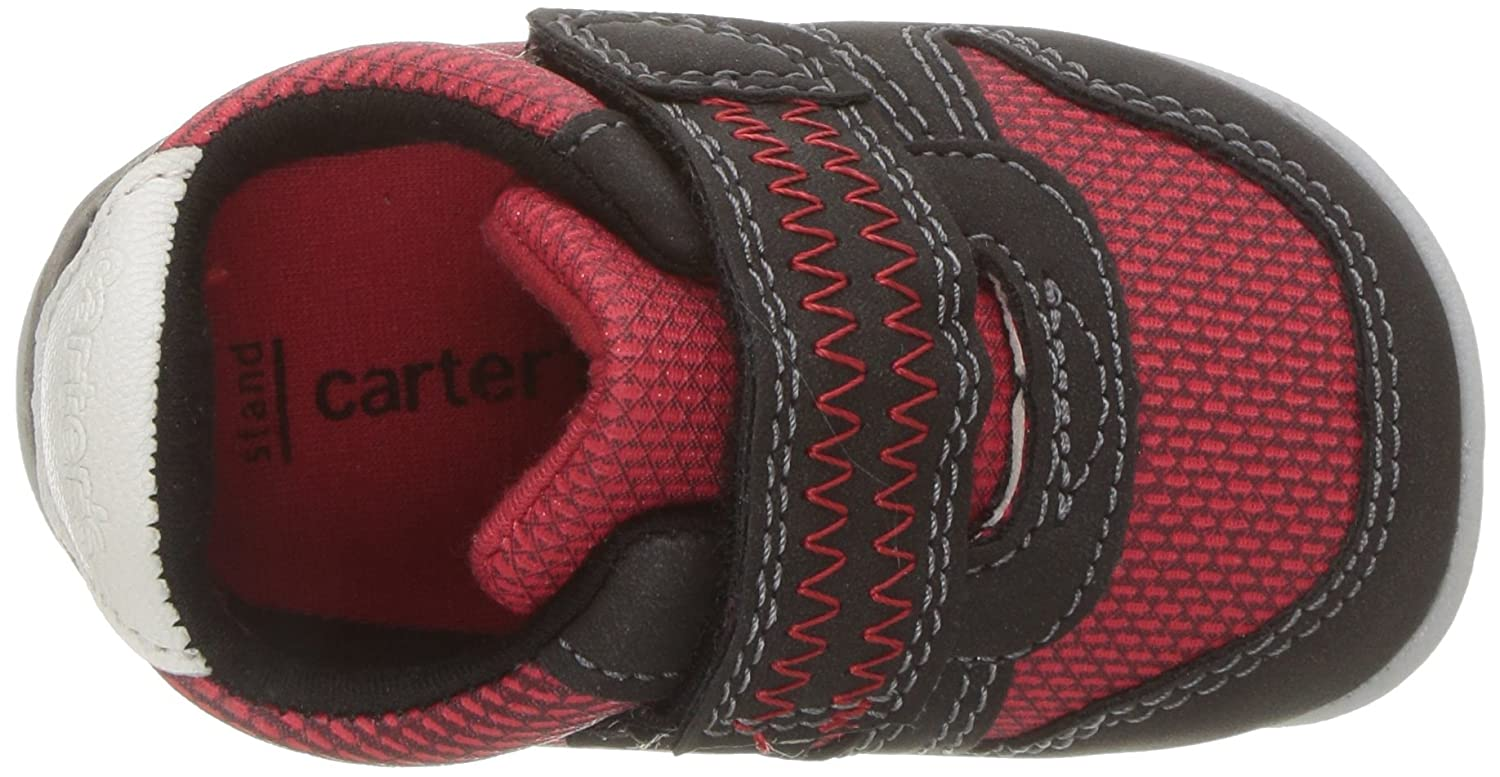 Carters Every Step Boys Stage 2 Stand 4.0 M US Jamison-SB Sneaker Red//Black 6-9 Months