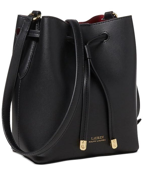 d15428e96ddb6c Lauren Ralph Lauren Debby II Mini Drawstring Bag (Black Crimson)  Handbags   Amazon.com